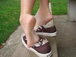 Bare Feet Teasing in Chuck Taylors