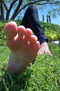 Suck Toes While I Relax in the Sunshine