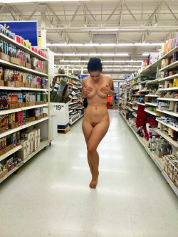 Babe bares it all inside Walmart