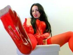 Latex Domme and Humiliatrix Destroys Weaklings