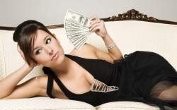 Money Goddess Fanning Herself with My Cash