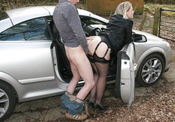 Big Ass Getting Tapped Over the Car Door