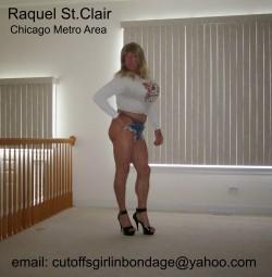 Raquel St.Clair the Tanned Blonde Transvestite in Cheeky Daisy Dukes (album #5747738) – Re ...