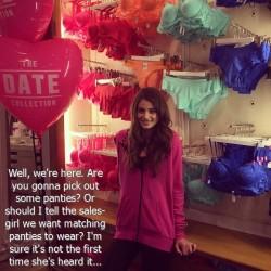 Princess Takes Sissy Panty Shopping (Caption)