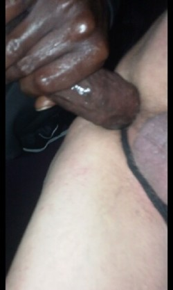 Yes… It fits! My BBC stretching my faggot ass wide ;)