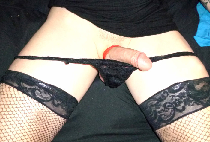 Sissy clitty granted some sweet release from chastity. But not allowed to cum.