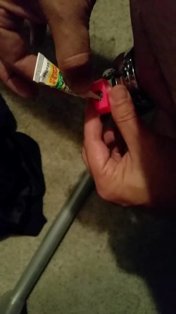 Sealing my chastity lock with SuperGlue on Vimeo