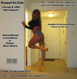 The Tanned Blonde Crossdresser in Cheeky Short Shorts (album #5748188) – RealPicsOnly.com