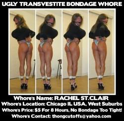 Ugly Transvestite Bondage Whore