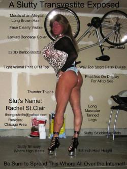 Rachel St Clair, Slutty Transvestite Exposed