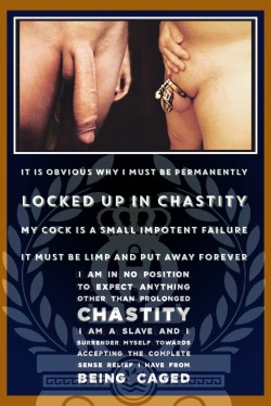 Small Penises Must Be Locked in Chastity