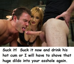 Love to be Coerced into Sucking Cock by Women