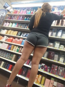 Clearly Wanting Guys Staring at Her Ass and Thong Pantylines