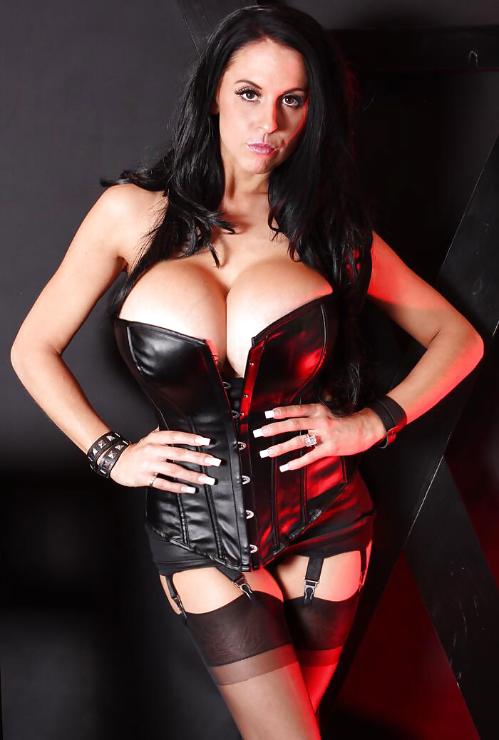 Leather Goddess with Huge Boobs