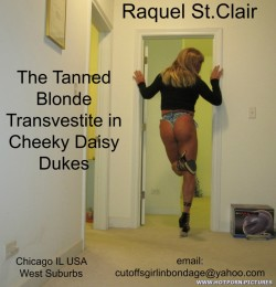 Raquel St.Clair Tanned Blonde Transvestite Slut in Cheeky Daisy Dukes – Free hot porn pict ...