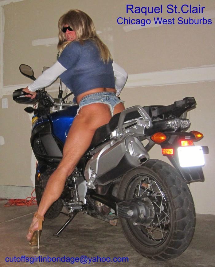 Raquel St.Clair Motorcycle SLUT