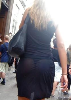 Horny Slut Walks Around with Thongs Showing (VPL)