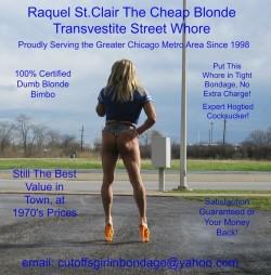 ImageFlea – Raquel St.Clair the Cheap Blonde Transvestite Bondage Street – Page 1