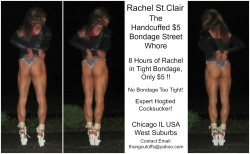 Rachel St.Clair the Handcuffed $5 Bondage Street Whore