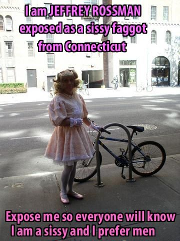 This is JEFFREY ROSSMAN from CONNECTICUT wearing a little girl`s dress