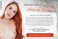 Amarna Miller Webcam Chat 3/29/17