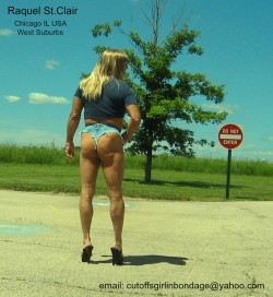 Raquel St.Clair Exposed Outdoors in Micro-Short Cutoff Booty Shorts – DO NOT ENTER (album  ...