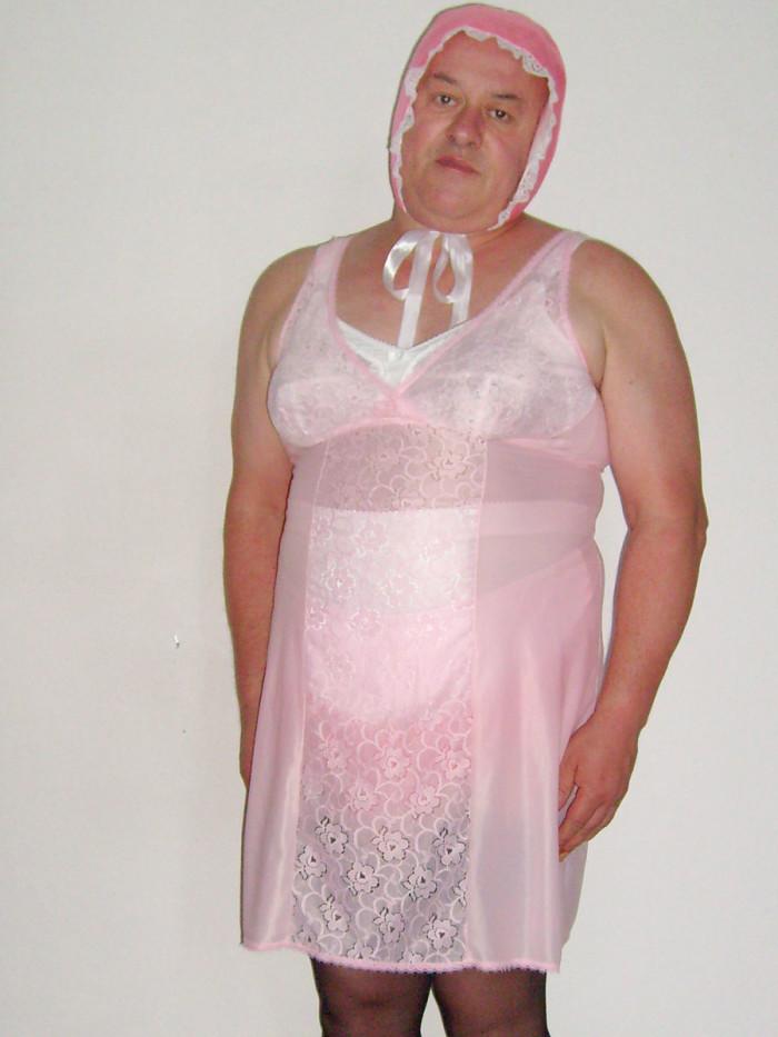 Posing as a fat pathetic sissy