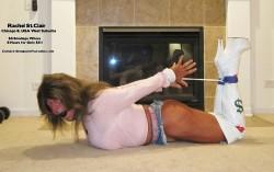 Rachel Hogtied in CFM Thigh Boots