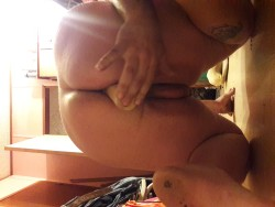 sissy taking dildo in her pussy