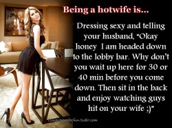 Being a Hot Wife: Teasing Hubby at the Hotel Bar