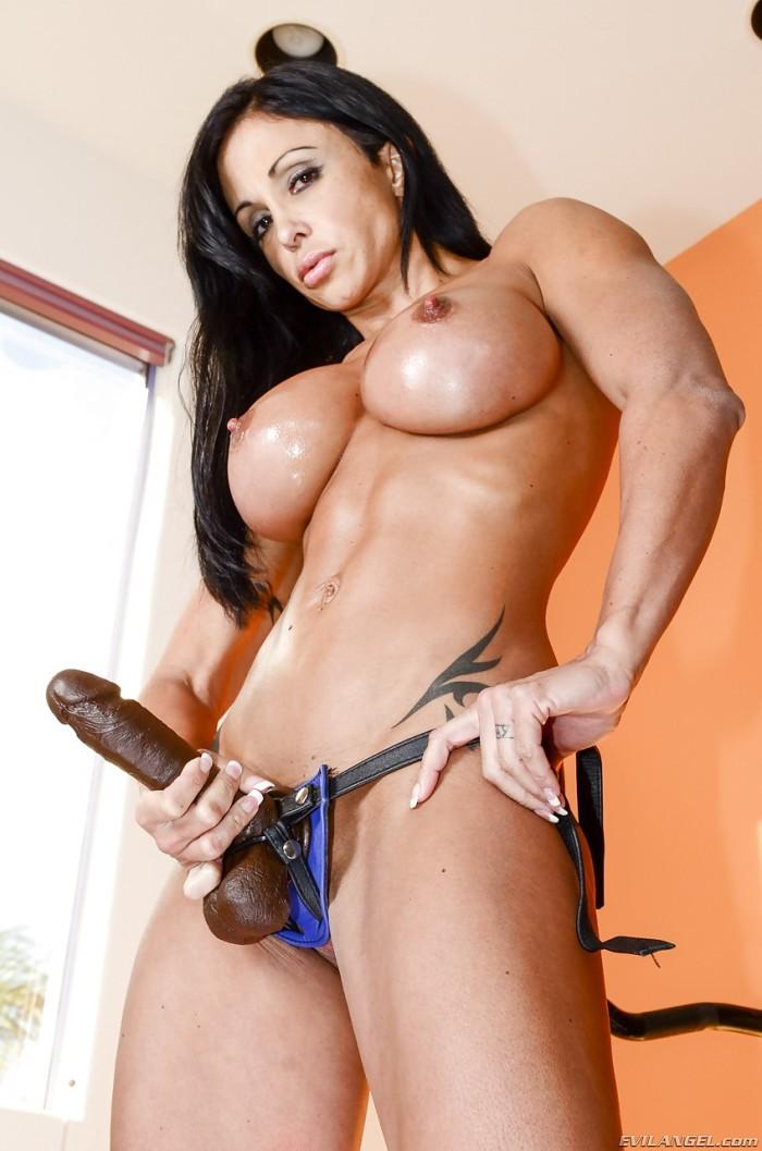 big tits strapon