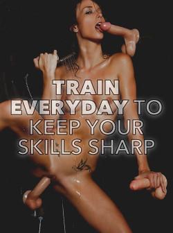 Sissies Train Everyday to Keep Cock Pleasuring Skills Sharp