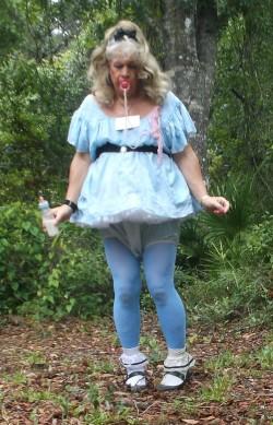 sissy in blue