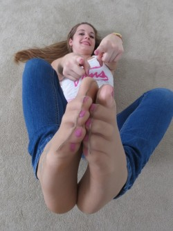 Sniff these feet or get your balls kicked in