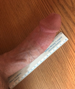 7 Inches of Hard White Cock Measured