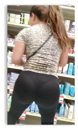 Big bangable ass with visible thong pantylines