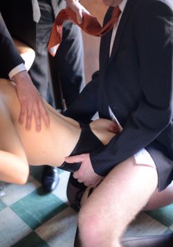 Wife's New Job as Office Gang Bang Slut