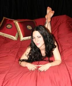 Sadistic foot mistress and tiny dick dominatrix