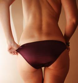 Nothing but satin panties