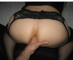My father in law getting ready to fist my sissy hole