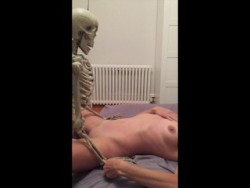Skeleton banging someone's wife at the party!