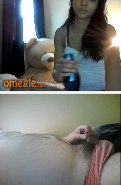 Omegle small penis reaction.