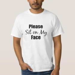 Sit on My Face T-Shirt for Facesitting Slaves