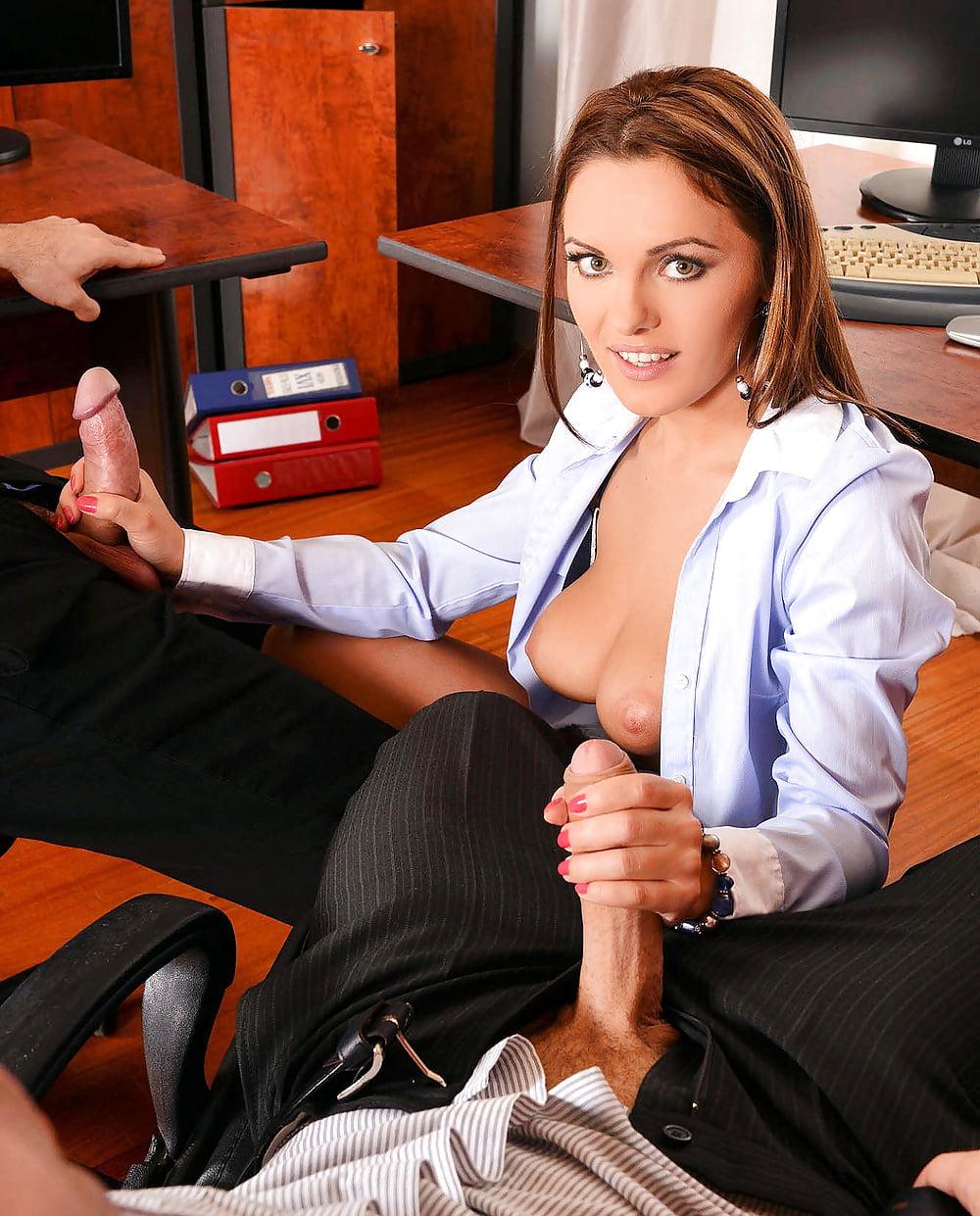 Office handjob pictures