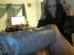 Femdom boot webcam worship