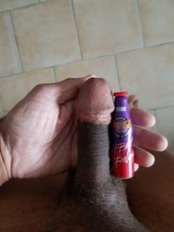 View my big black cock compared to this bottle!