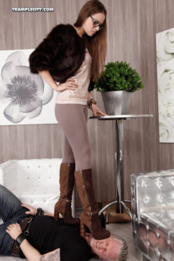 How do these high heel boots feel on your face?