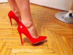Do red high heels excite your feet fetish cravings?