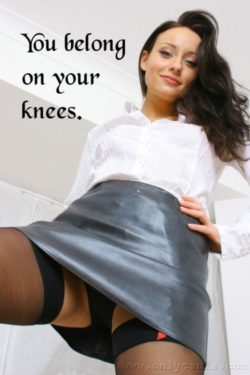 Mistress says you belong on your knees