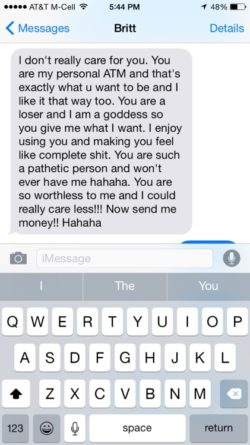 Cash mistress texts the truth to her finsub